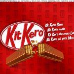 Faixa lateral para bolo Dia dos Namorados Kit Kat 5