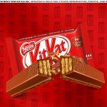 Faixa lateral para bolo Dia dos Namorados Kit Kat 6