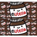 Faixa lateral de bolo Dia dos Namorados Nutella