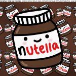 Faixa lateral de bolo Dia dos Namorados Nutella 3