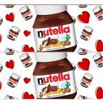 Faixa lateral para bolo Dia dos Namorados Nutella