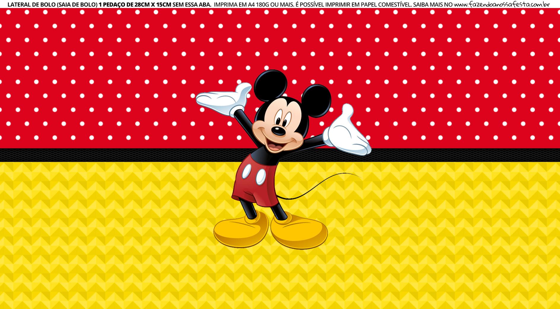 Faixa lateral para bolo Mickey 3