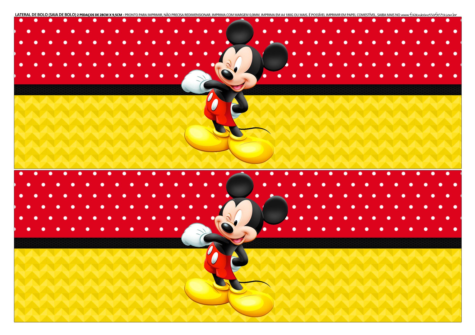 Faixa lateral para bolo Mickey 4