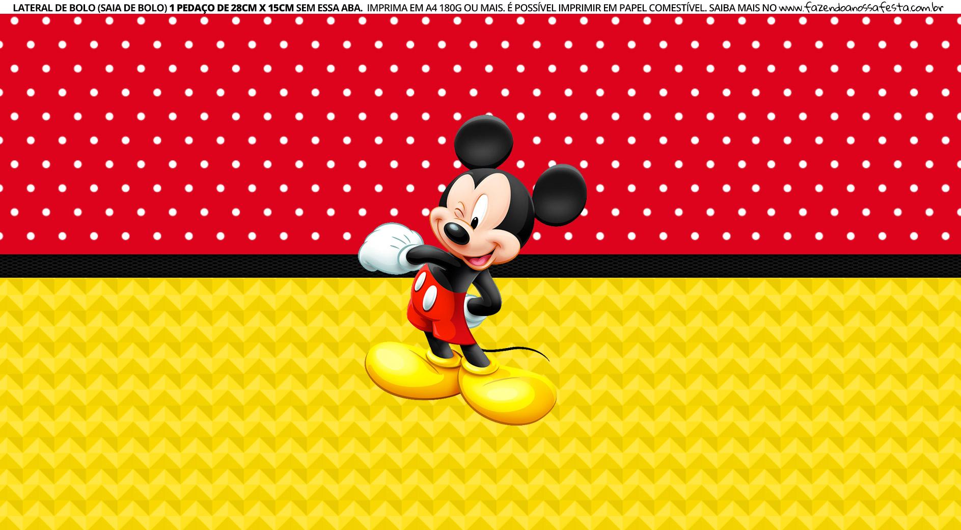 Faixa lateral para bolo Mickey 5