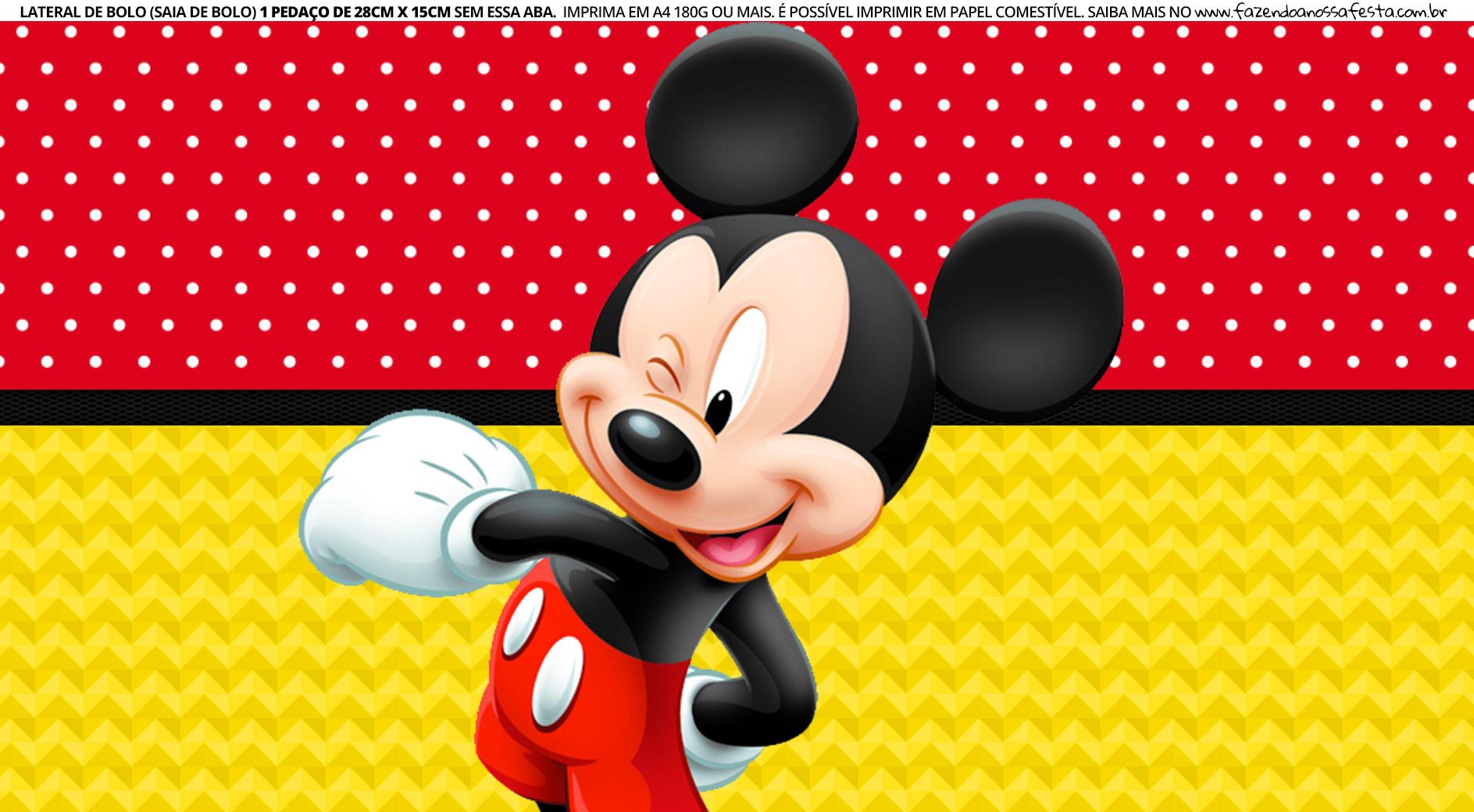 Faixa lateral para bolo Mickey 7