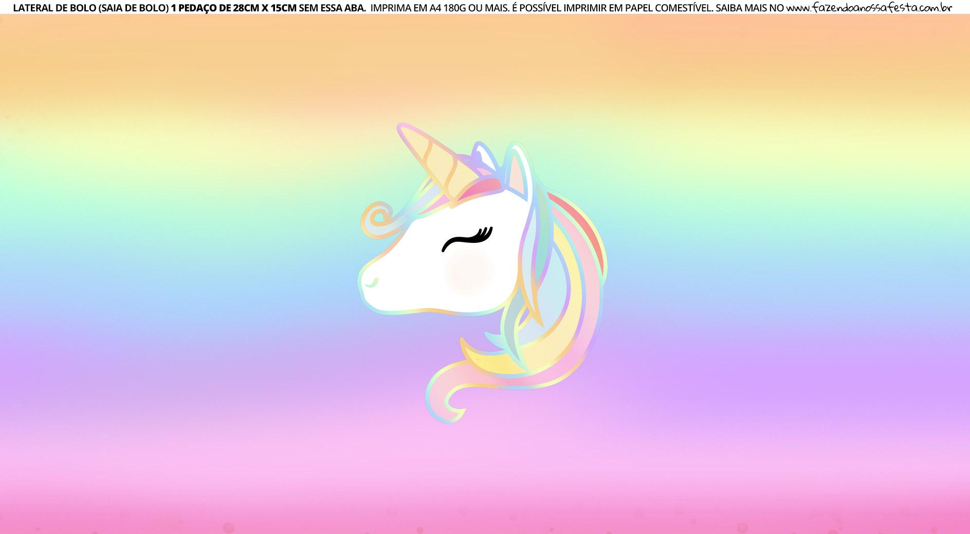 Faixa lateral para bolo Unicornio 10