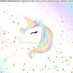 Faixa lateral para bolo Unicornio 4