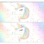 Faixa lateral para bolo Unicornio 9