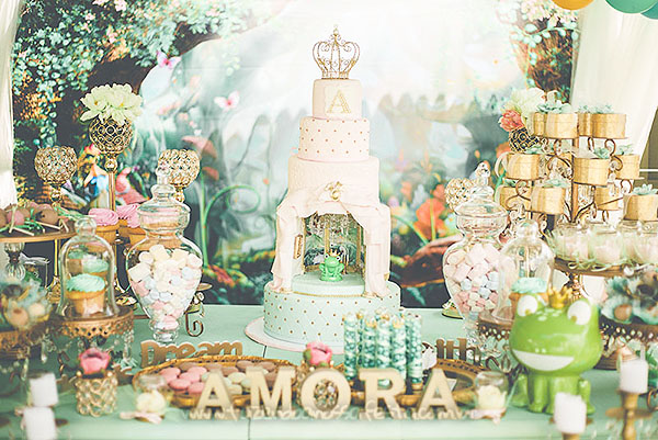 Festa Infantil Princesa e o Sapo da Amora