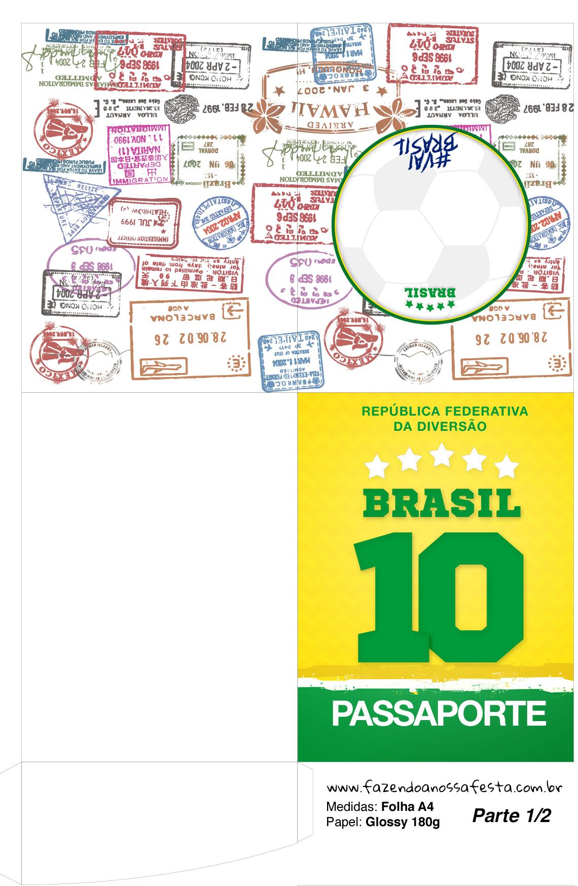 Molde Passaporte Copa do Mundo