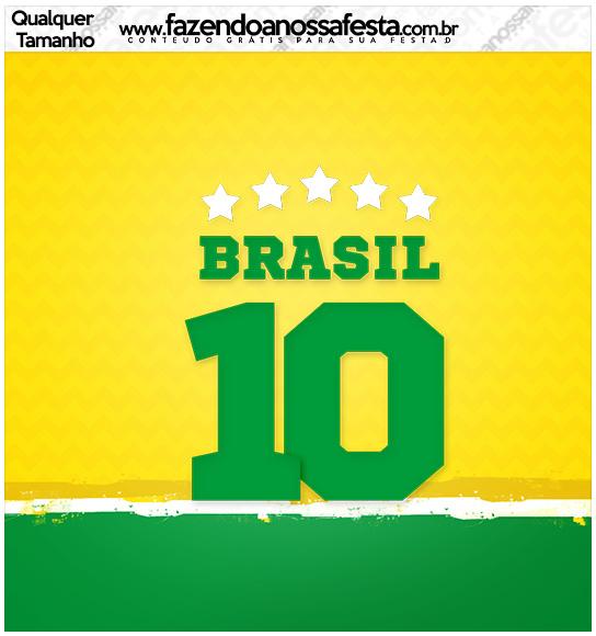 Molde Quadrado Copa do Mundo Kit Festa