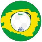 Molde para Latinha Copa do Mundo Kit Festa