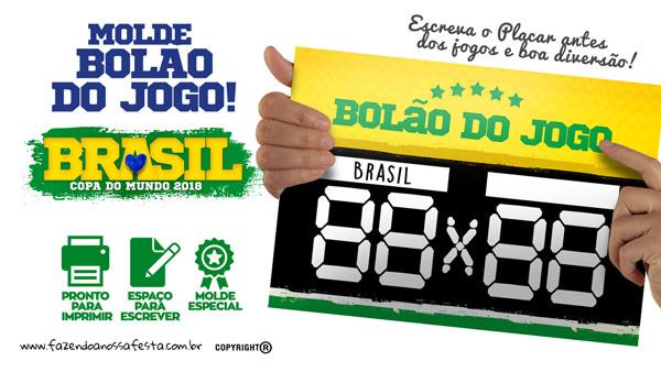 Placa Bolao Copa do Mundo