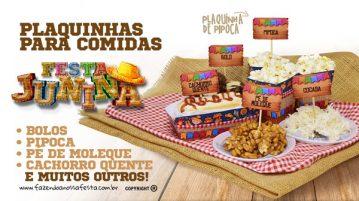 Plaquinha de Comida para Festa Junina