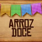Plaquinha de Comida para Festa Junina Arroz Doce