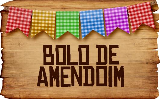 Plaquinha de Comida para Festa Junina Bolo de Amendoin