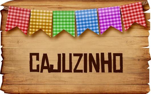 Plaquinha de Comida para Festa Junina Cajuzinho