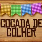 Plaquinha de Comida para Festa Junina Cocada de Colher