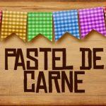 Plaquinha de Comida para Festa Junina Pastel de Carne