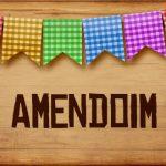 Plaquinhas de Comida para Festa Junina Amendoim