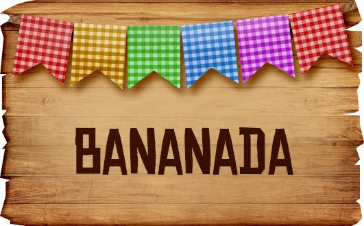 Plaquinhas de Comida para Festa Junina Bananada