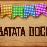Plaquinhas de Comida para Festa Junina Batata Doce