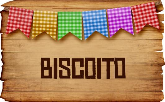 Plaquinhas de Comida para Festa Junina Biscoito