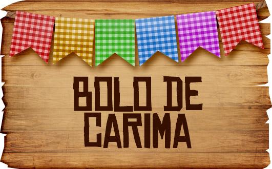 Plaquinhas de Comida para Festa Junina Bolo de Carima