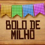 Plaquinhas de Comida para Festa Junina Bolo de Milho