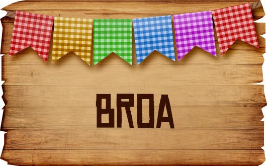 Plaquinhas de Comida para Festa Junina Broa