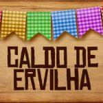 Plaquinhas de Comida para Festa Junina Caldo de Ervilha