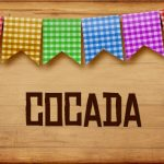 Plaquinhas de Comida para Festa Junina Cocada