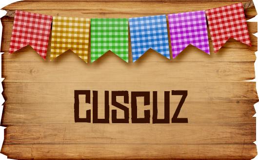 Plaquinhas de Comida para Festa Junina Cuzcuz