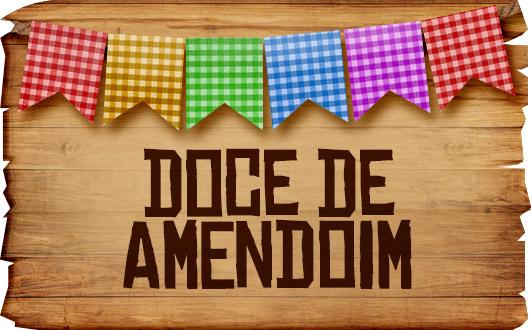 Plaquinhas de Comida para Festa Junina Doce de Amendoim
