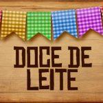 Plaquinhas de Comida para Festa Junina Doce de Leite