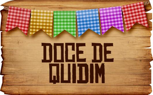 Plaquinhas de Comida para Festa Junina Doce de Quindim