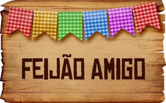 Plaquinhas de Comida para Festa Junina Feijao Amigo