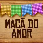 Plaquinhas de Comida para Festa Junina Maca do Amor