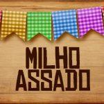 Plaquinhas de Comida para Festa Junina Milho Assado