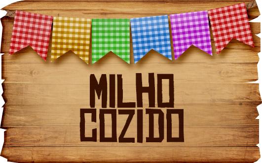 Plaquinha de Comida para Festa Junina Milho Cozido
