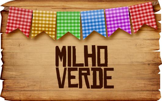 Plaquinha de Comida para Festa Junina Milho Verde