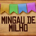 Plaquinha de Comida para Festa Junina Mingau de Milho