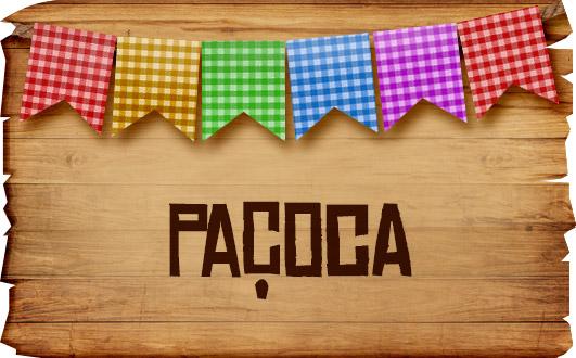 Plaquinha de Comida para Festa Junina Pacoca