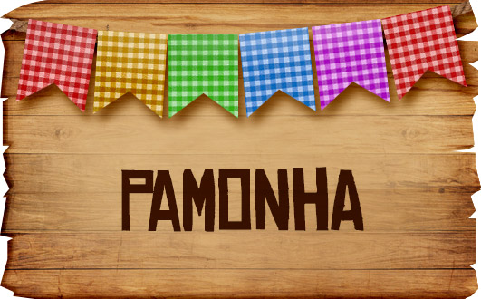 Plaquinha de Comida para Festa Junina Pamonha