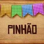 Plaquinha de Comida para Festa Junina Pinhao