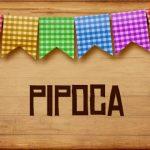 Plaquinha de Comida para Festa Junina Pipoca