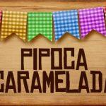 Plaquinhas de Comida para Festa Junina Pipoca Caramelada
