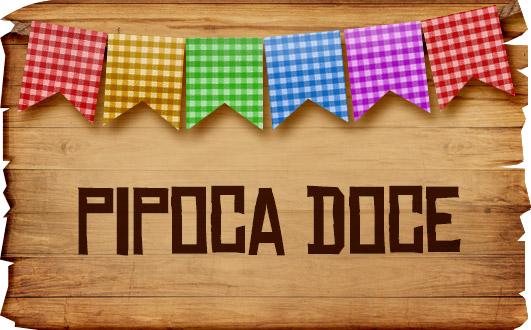 Plaquinhas de Comida para Festa Junina Pipoca Doce