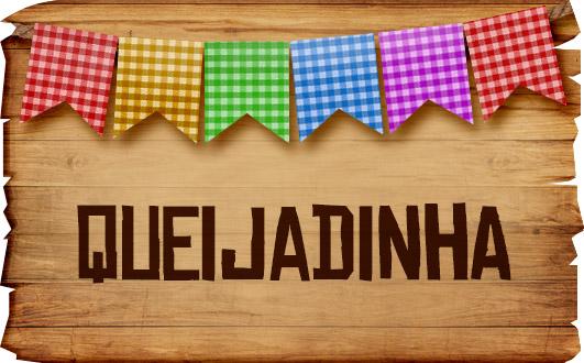 Plaquinhas de Comida para Festa Junina Queijadinha