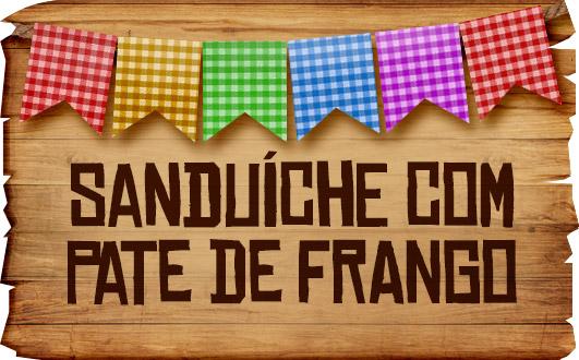 Plaquinhas de Comida para Festa Junina Sanduiche com Pate de Frango